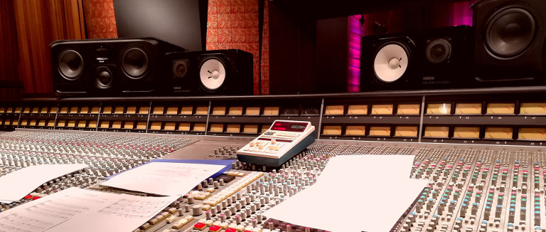 """Recording session for the Soundtrack of the film """"The Super Powers of the bear"""", Olivier Militon"""